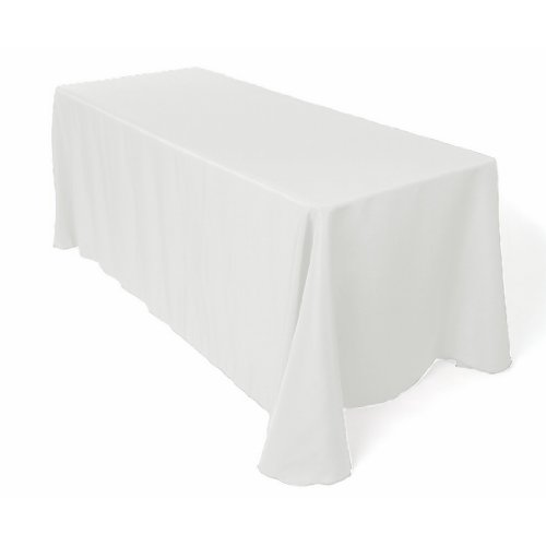 90 x 132-Inch Rectangular Tablecloth with Rounded Corners