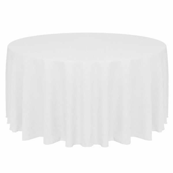108-Inch Round Tablecloth White