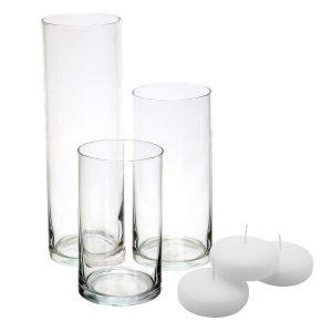 3 Table Vases