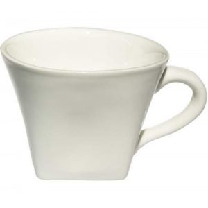 5.5oz White Porcelain Square Cup