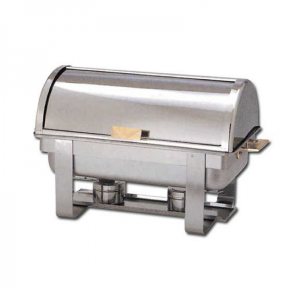 8 Qt Stainless Steel Round Top Chafer