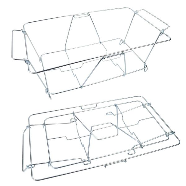 Buffet Wire Rack Folding Chafing Stand Chrome