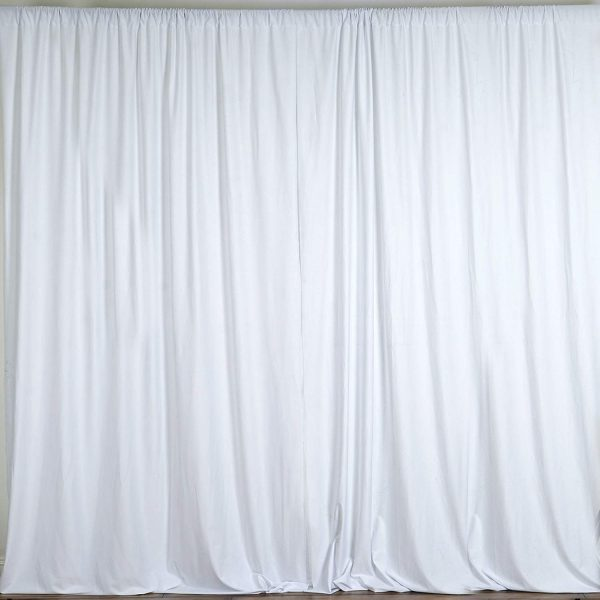 White Taffeta Drapes