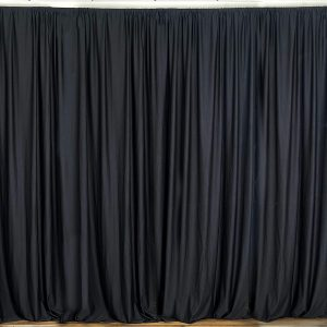 Black Cotton/Polyester Drapes
