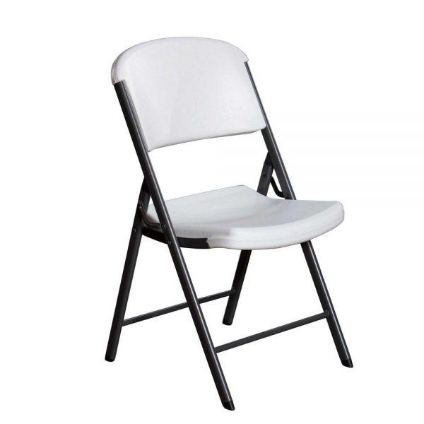 white granite folding chairs