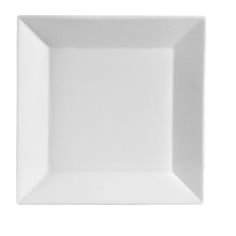 10'' White Square China Plate