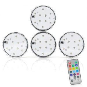 Pack of 4 Waterproof LED Lights