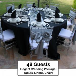 Elegant Wedding Packages 48 Guests