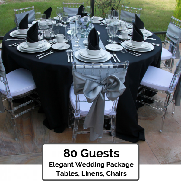 Elegant wedding packages orlando 80 Guests