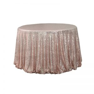 "108"" Round Sequin Table Cloth"