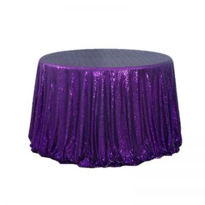 "120"" Round Sequin Table Cloth"
