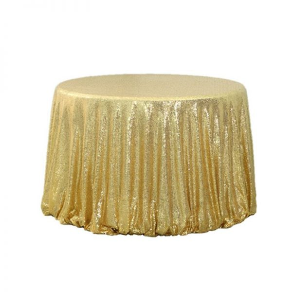 """132"""" Round Sequin Table Cloth"""