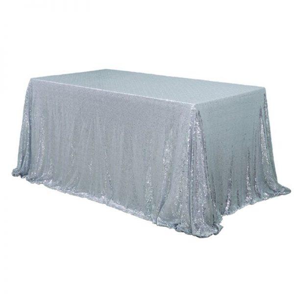 "90x120"" Sequin Rectangular Table Cloth"