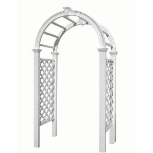 White Vinyl Wedding Arch