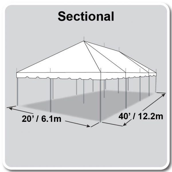 20x40 Tent Diagram