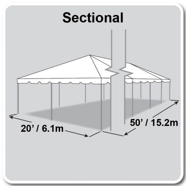 20x50 Tent Diagram