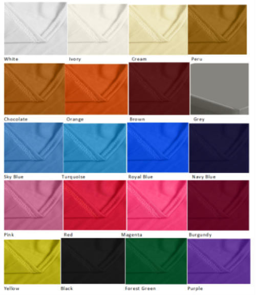 Table Cover Colors
