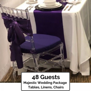 Majestic Wedding Packages Orlando for 48 Guests